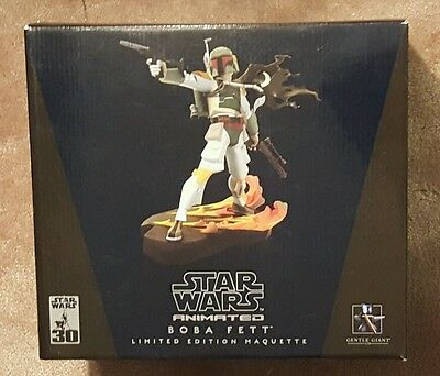 New Gentle Giant Animated Star Wars Boba Fett Maquette  #5663/7000 30th Ann
