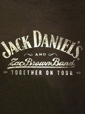 New Jack Daniel's Zac Brown Band Together On Tour X-Large T Shirt Free Shipping