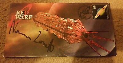 Red Dwarf First Day Cover Hand Signed By Norman Lovett