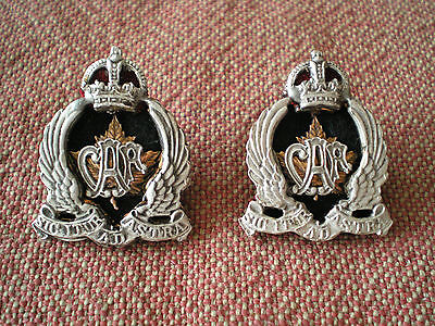 1960s Commemorative Repro Pair of CANADIAN AIR FORCE OFFICERS COLLAR BADGES