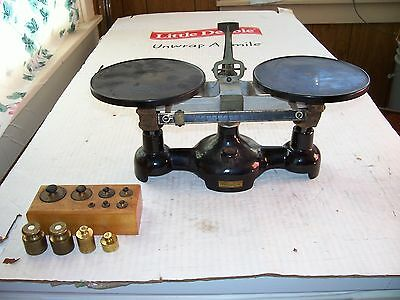 1 used vintage W.M. Welch Scientific scale with extra weights working.