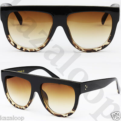 Womens Ladies Oversized Flat Top High Quality Hand Polished Sunglasses