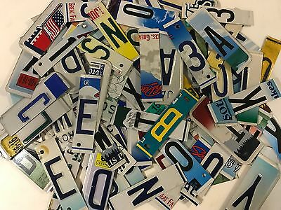 License Plate Letters And Numbers For Crafts Keychains Signs Art