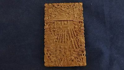 Superb Quality Deeply Carved Chinese Sandalwood Card Case