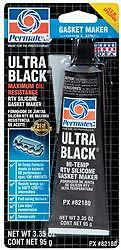 Permatex 82180 Gasket Sealer; Ultra Black (R); Squeeze Tube; 3.35 Ounce; 1 pack