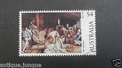 1974 Australian Painting used $4 definitive - shearing the rams by Tom Roberts