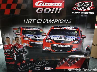 1:43 scale model car set Carrera Go! HRT Champions Battery Operated Track #62400