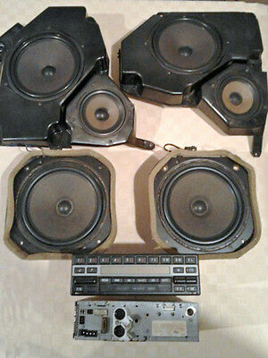 FULL SET Becker Mexico 2000 BE1430 Amplifier Speakers Cables Mercedes W140 W126