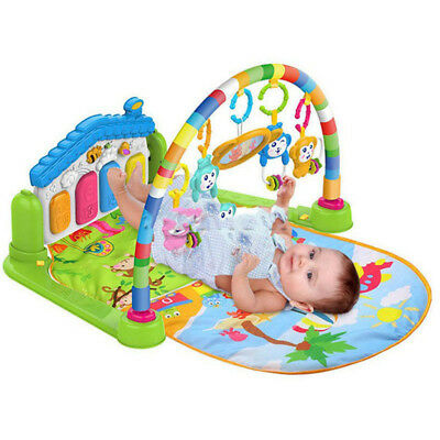Baby Piano Safari Animals Gym Kick, Lay & Play Baby Toddler Gym Activity Mat