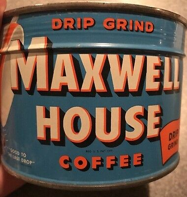 Maxwell House Regular Coffee Tin Can Sealed NOS New unopened Key Wind Full