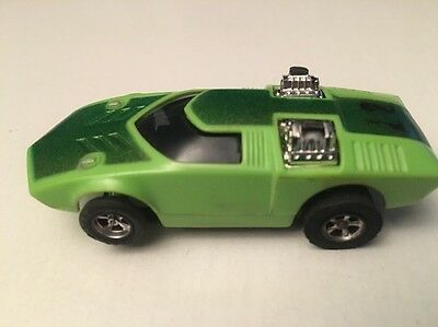 Vintage AFX TOO MUCH Lime Green # 12  Slot Car