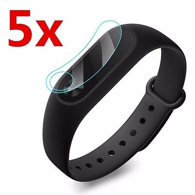 5 x Replacement Band Screen Protector Film Anti Scratch For Xiaomi Mi Band 2