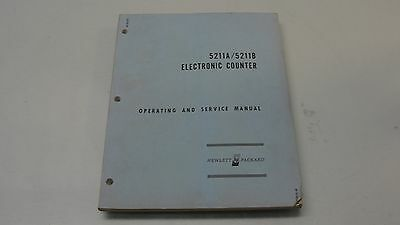 Hewlett Packard Hp 5211A, 5211B Electronic Counters Operating & Service Manual