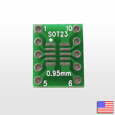 SOT23 SSOP10 MSOP10 UMAX 0.5/0.95mm to DIP Adapter PCB Breakout Board Converter