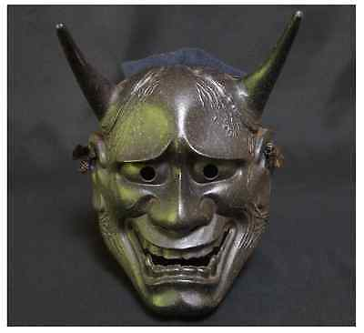 Japanese Antique Iron Noh Mask HANNYA / Vintage Iron / W 15.5 × D 19 [cm] 1.4kg