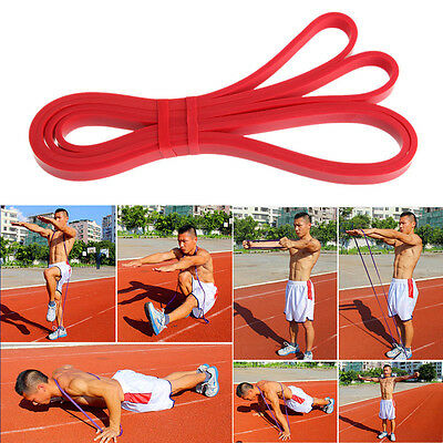 Heavy Duty Resistance Band Loop Power Gym Fitness Exercise Workout Pilates Yoga