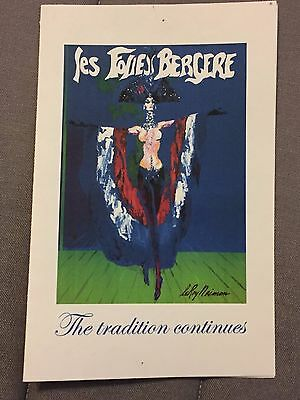 Les Folies Bergere Thank You card Signed by Jerry Jackson (Creator, Director)