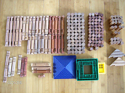 Lot Of Childrens Building Logs~ Mixed Assortment~ Over 3 1/2 Pounds