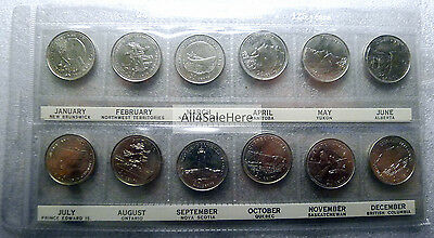 1867 - 1992 125th Anniversary of Canada 25 Cents Quarters 12-Coin Set in Holder