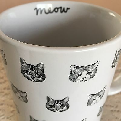 Mini Cat Heads Coffee Cup Fur Baby Crazy Cat Lady Kitty Gang Mug Shots Meow New