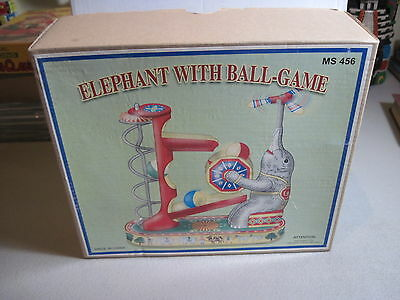 Elephant With Ball-Game-- Tin Wind Up  Toy -With Box and Key