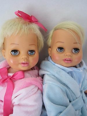 TINY CHATTY BABY TWINS DECAL EYES Robe Jammie Slippers TALKS FREE SHIPPING