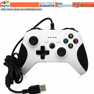 DOBE New White Premium Wired USB Controller for Microsoft Xbox One S PC Win 10