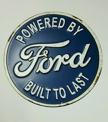 FORD Built Metal Sign Fordson FoMoCo Boss Roadster Mustang Decor Man Cave 3D 12""