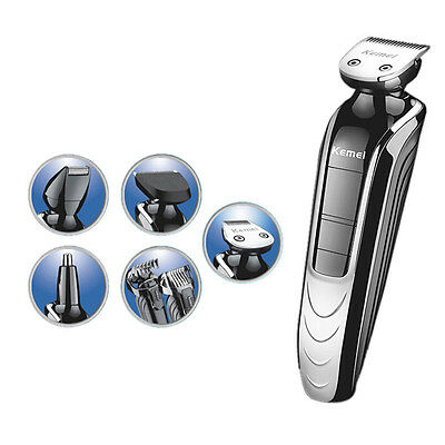 5 in1 Waterproof Electric Hair Clipper Professional Stainless Steel Hair Trimmer
