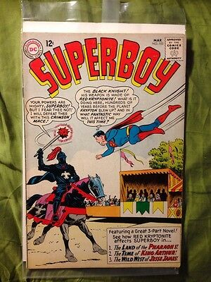 SUPERBOY #103 Fine, all red kryptonite and time travel stories, DC 1963
