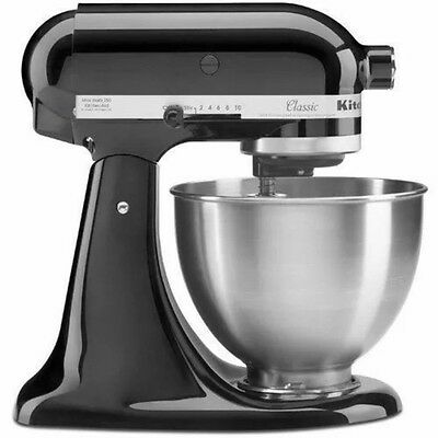 New! KitchenAid Classic 4.5-Quart Stand Mixer K45SS - Black Kitchen Aid Machine