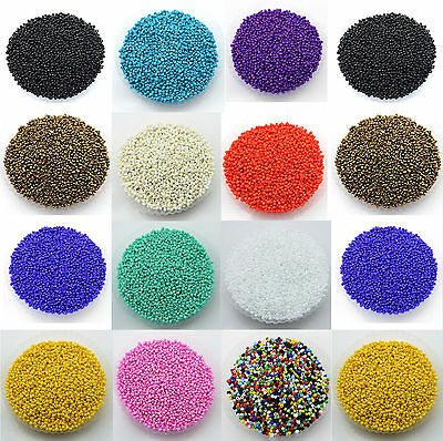 Lots 2000Pcs Opaque Glass Seed Beads Jewelry Finding DIY Craft 2MM U Pick Color