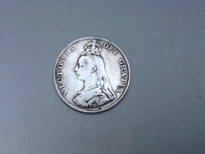 Victoria Double Florin Dated 1888.