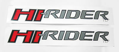2X Hi-Rider Logo Emblems Badge Decals Silver Sticker Ford Ranger T5 T6 02 -13 14