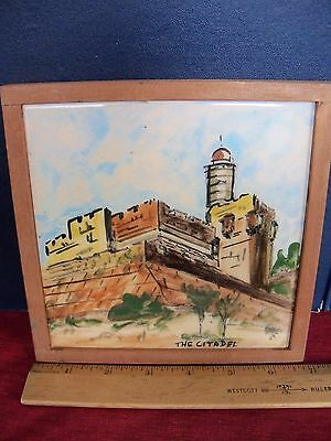 Painted Tile The Citadel In Jerusalem.  Used