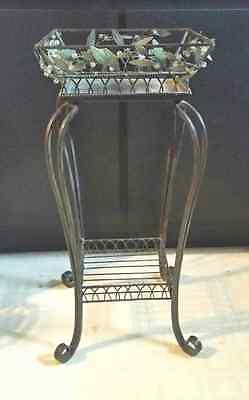 Retired Party Lite Garden Lites Candle/Plant Stand with Bonus Candle Holder