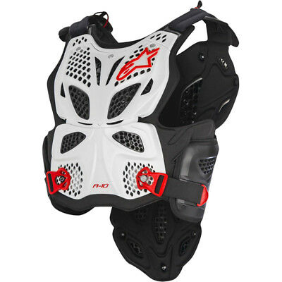 NEW Alpinestars Mx A-10 White Roost Guard Motocross Chest Protector Body Armour
