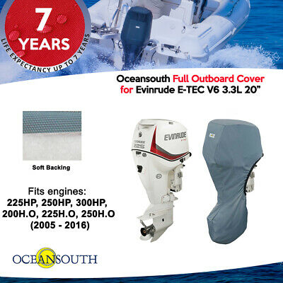 "Evinrude Outboard Storage Full Cover V6 3.3L 200HP-300HP 20"" leg"
