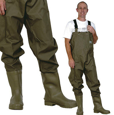 Xtackle PVC/Nylon Chest Waders With Lugged Sole Boots Size 7-13US