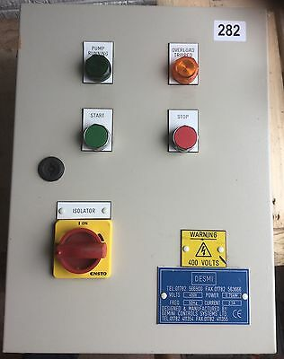 Control Panel Box Enclosure For Motor Pump DOL ASD Starter #282