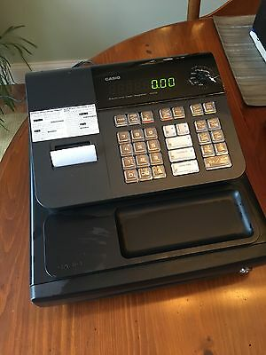 CASIO 140cr PCR SERIES CASH REGISTER NEW WITH KEY SMALL BUSINESS REGISTER