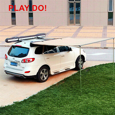 Ployester 2*2 *1.9 M Sun Shade Shelter Car Side Awning Tent for Sale 3-4person