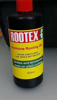 Rootex -G Hormone Rooting Gel 500ml hydroponics Plant Propagation Cloning LARGE
