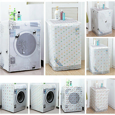 1PC New Floral Waterproof Washing Machine Zippered Dust Cover Protection Durable