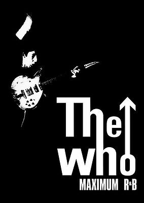 "The Who Maximum R&B Poster VINTAGE 24"" By 28 Inches 2000 Profile Publishing Used"