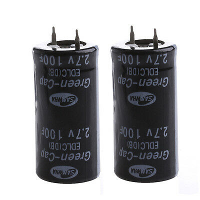 2Pcs Super Capacitor 2.7V 100F Ultra Capacitor Farad