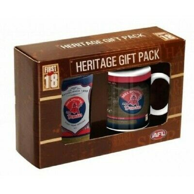 Melbourne Demons Heritage Gift Pack 11oz Mug & Can Cooler Stubby Holder
