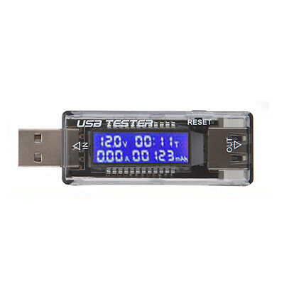 New USB Charger Doctor Capacity Time Current Voltage Meter Support QC 2.0 3.0