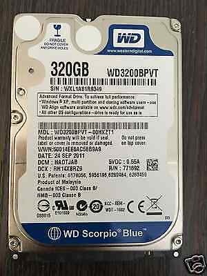 """2.5"""" SATA 320GB WD (WD3200BPVT) Hard Disk Drive For Dell HP ASUS Acer laptop PS3"""