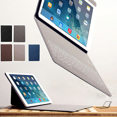 "Ultra-thin Bluetooth Keyboard Folio Case Cover for iPad Mini 7.9"" Air Pro 9.7"""